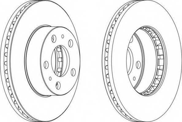 Тормозной диск FERODO DDF163-1 - изображение