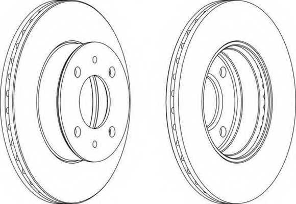 Тормозной диск FERODO DDF1632 - изображение