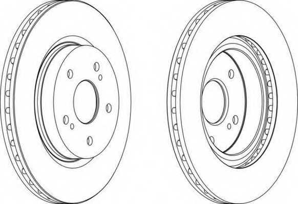 Тормозной диск FERODO DDF1635 - изображение