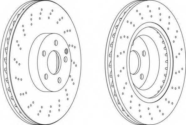Тормозной диск FERODO DDF1639C - изображение