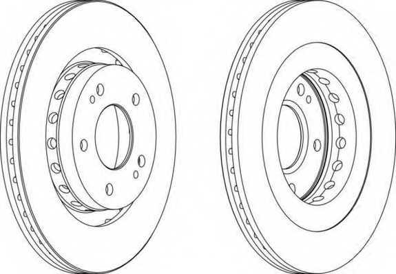 Тормозной диск FERODO DDF1642 - изображение