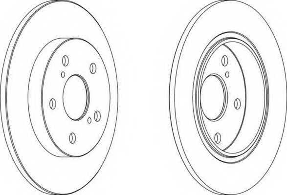 Тормозной диск FERODO DDF1645 - изображение