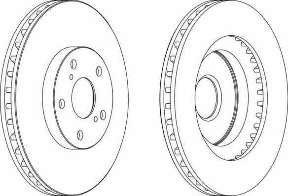 Тормозной диск FERODO DDF1646 - изображение