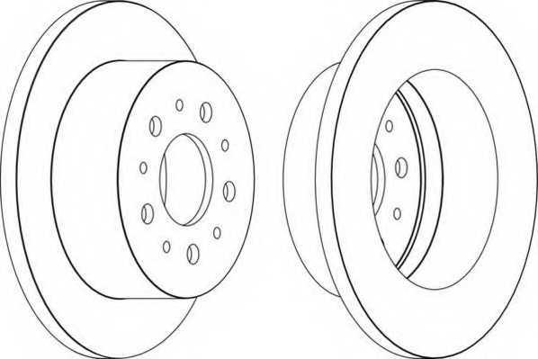 Тормозной диск FERODO DDF1653 - изображение