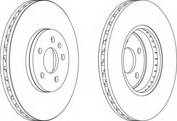 Тормозной диск FERODO DDF1664 - изображение
