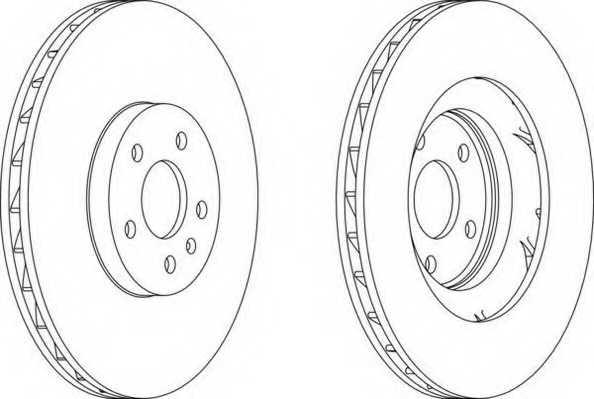 Тормозной диск FERODO DDF1665 - изображение