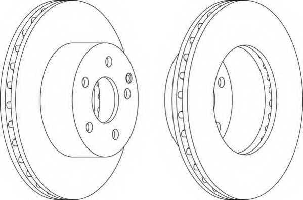 Тормозной диск FERODO DDF1668 - изображение
