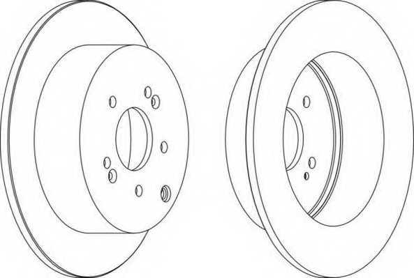 Тормозной диск FERODO DDF1671 - изображение