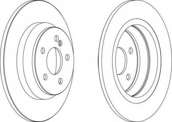 Тормозной диск FERODO DDF1675 - изображение