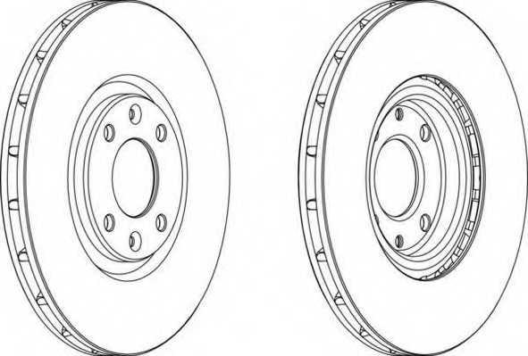 Тормозной диск FERODO DDF1676 - изображение