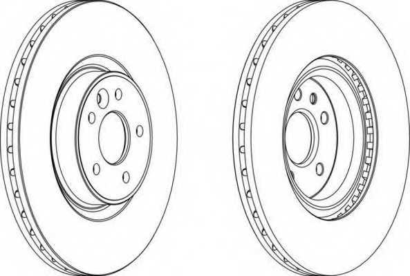 Тормозной диск FERODO DDF1680 - изображение