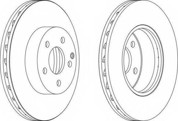 Тормозной диск FERODO DDF1690 - изображение