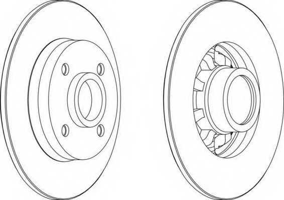 Тормозной диск FERODO DDF1696 - изображение