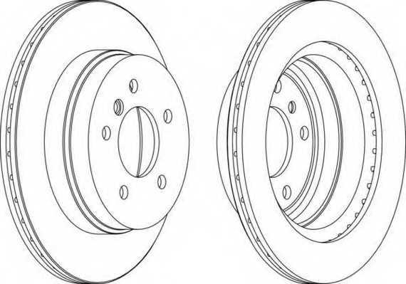 Тормозной диск FERODO DDF1697 - изображение