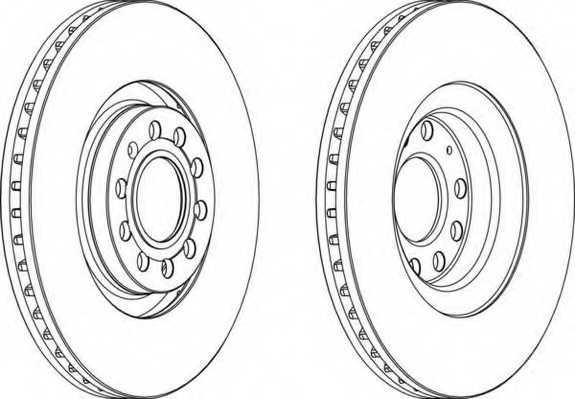 Тормозной диск FERODO DDF1705 - изображение