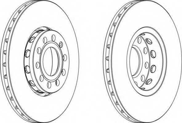 Тормозной диск FERODO DDF1706 - изображение