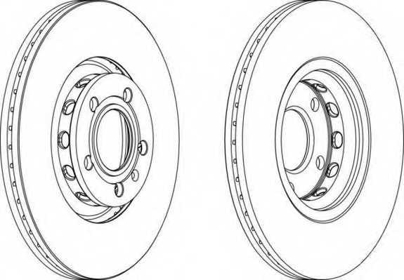 Тормозной диск FERODO DDF1707 - изображение