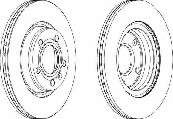 Тормозной диск FERODO DDF1708 - изображение