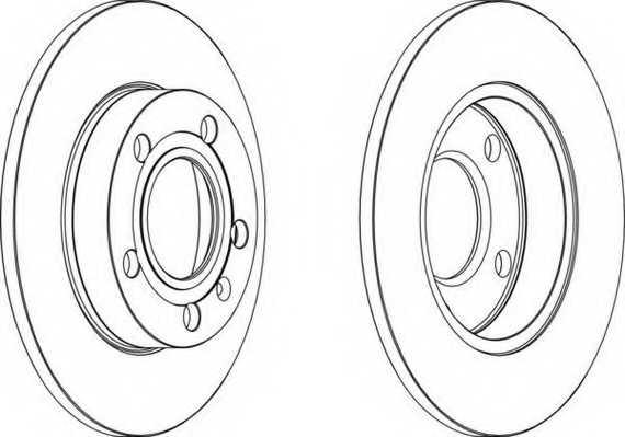 Тормозной диск FERODO DDF1709 - изображение