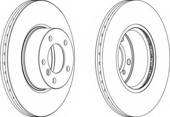 Тормозной диск FERODO DDF1717 - изображение