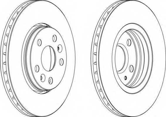 Тормозной диск FERODO DDF1733 - изображение
