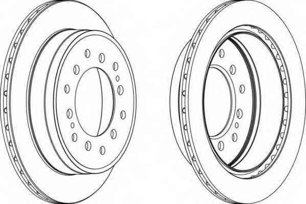 Тормозной диск FERODO DDF1743 - изображение