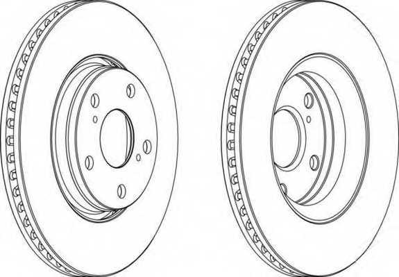 Тормозной диск FERODO DDF1756 - изображение