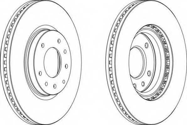Тормозной диск FERODO DDF1768 - изображение