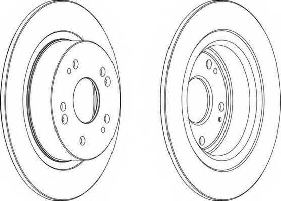 Тормозной диск FERODO DDF1776 - изображение