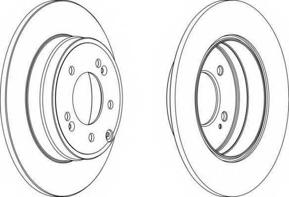 Тормозной диск FERODO DDF1787 - изображение
