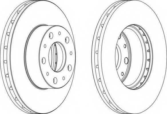 Тормозной диск FERODO DDF1800 - изображение