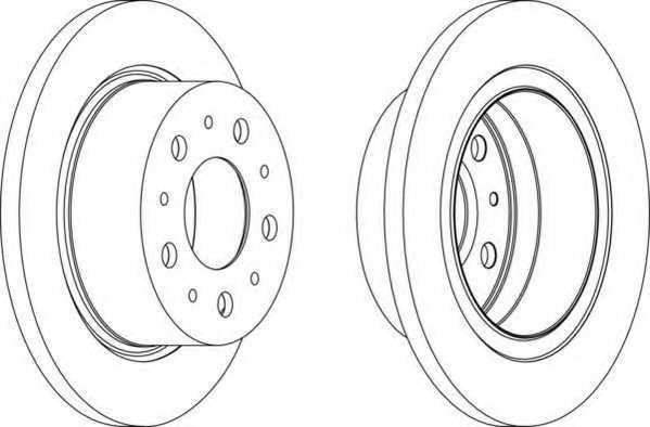 Тормозной диск FERODO DDF1823 - изображение