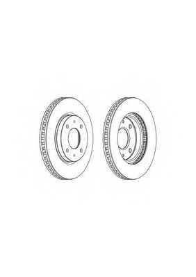 Тормозной диск FERODO DDF1845 - изображение