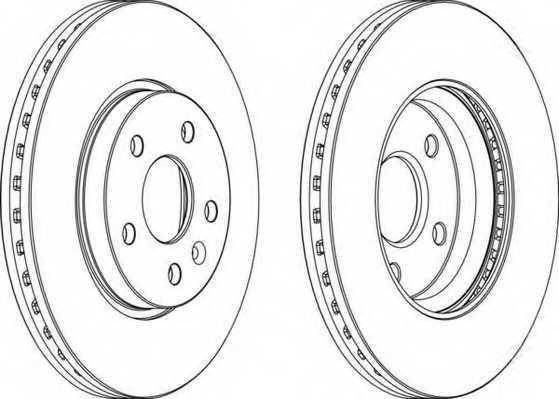 Тормозной диск FERODO DDF1869 - изображение