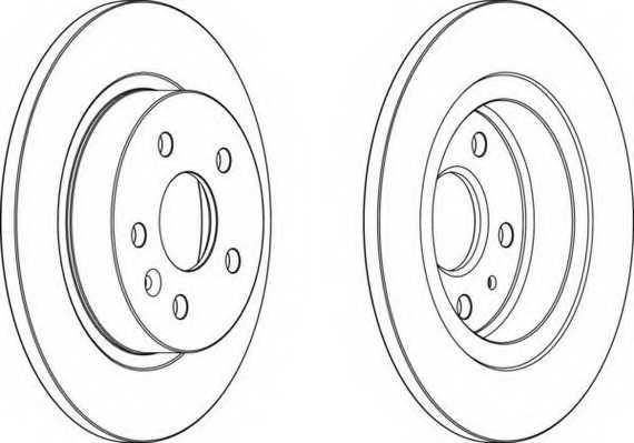 Тормозной диск FERODO DDF1872 - изображение