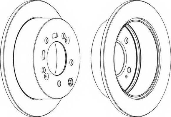 Тормозной диск FERODO DDF1945 - изображение