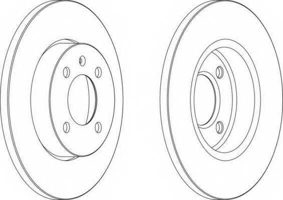 Тормозной диск FERODO DDF205 - изображение