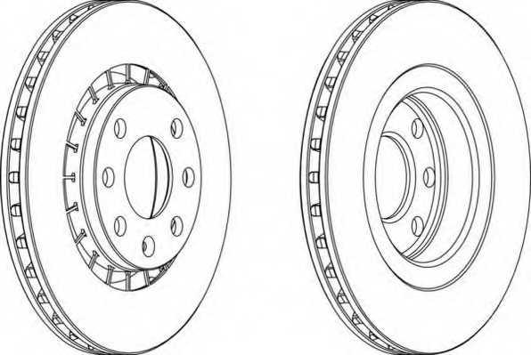 Тормозной диск FERODO DDF206 - изображение