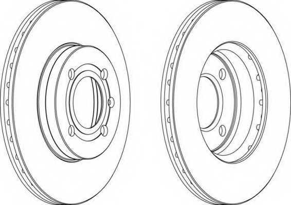 Тормозной диск FERODO DDF207 - изображение