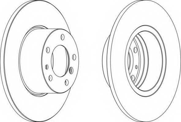 Тормозной диск FERODO DDF210 - изображение
