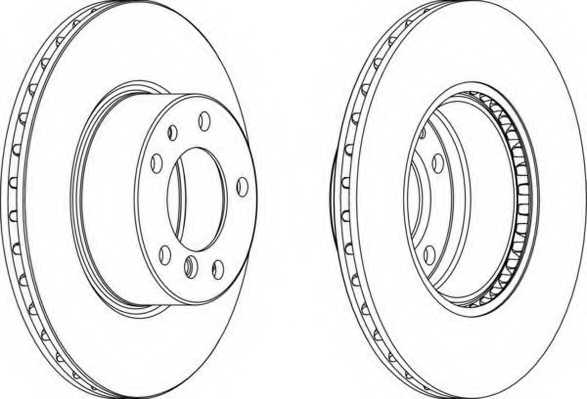 Тормозной диск FERODO DDF211 - изображение