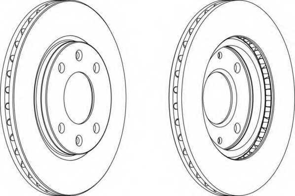 Тормозной диск FERODO DDF214 - изображение