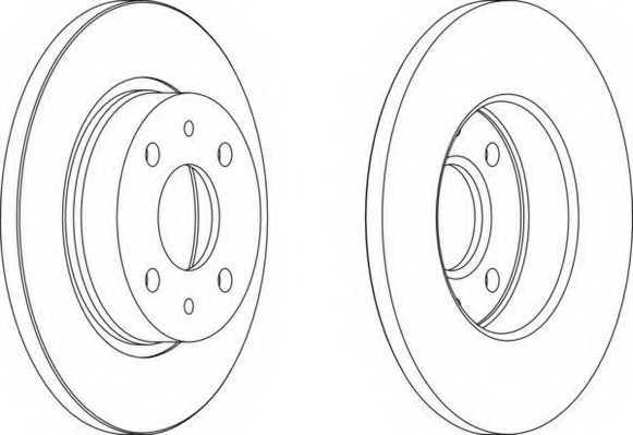 Тормозной диск FERODO DDF215 - изображение