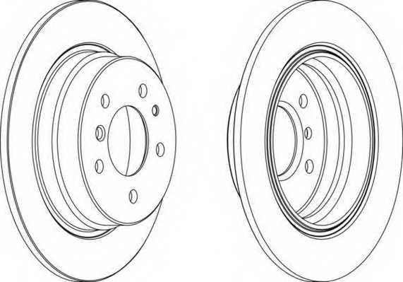 Тормозной диск FERODO DDF221 - изображение