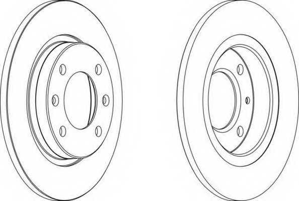 Тормозной диск FERODO DDF238 - изображение
