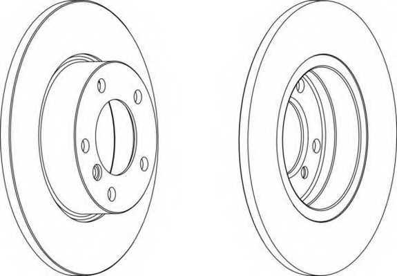 Тормозной диск FERODO DDF248 - изображение