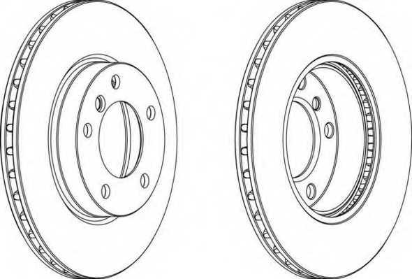 Тормозной диск FERODO DDF258 - изображение
