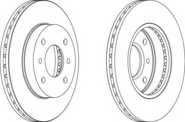 Тормозной диск FERODO DDF260 - изображение