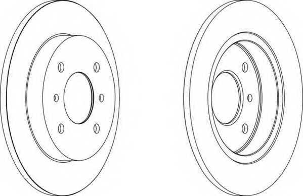Тормозной диск FERODO DDF267 - изображение
