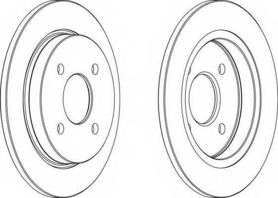 Тормозной диск FERODO DDF281 - изображение